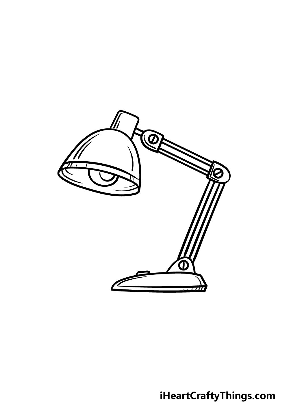 drawing a lamp step 5