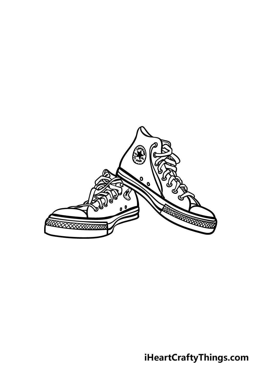 drawing converse step 5