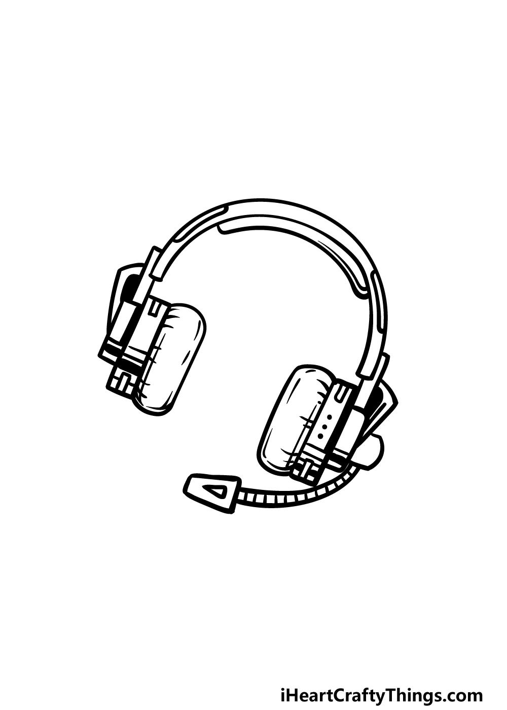 drawing headphones step 5