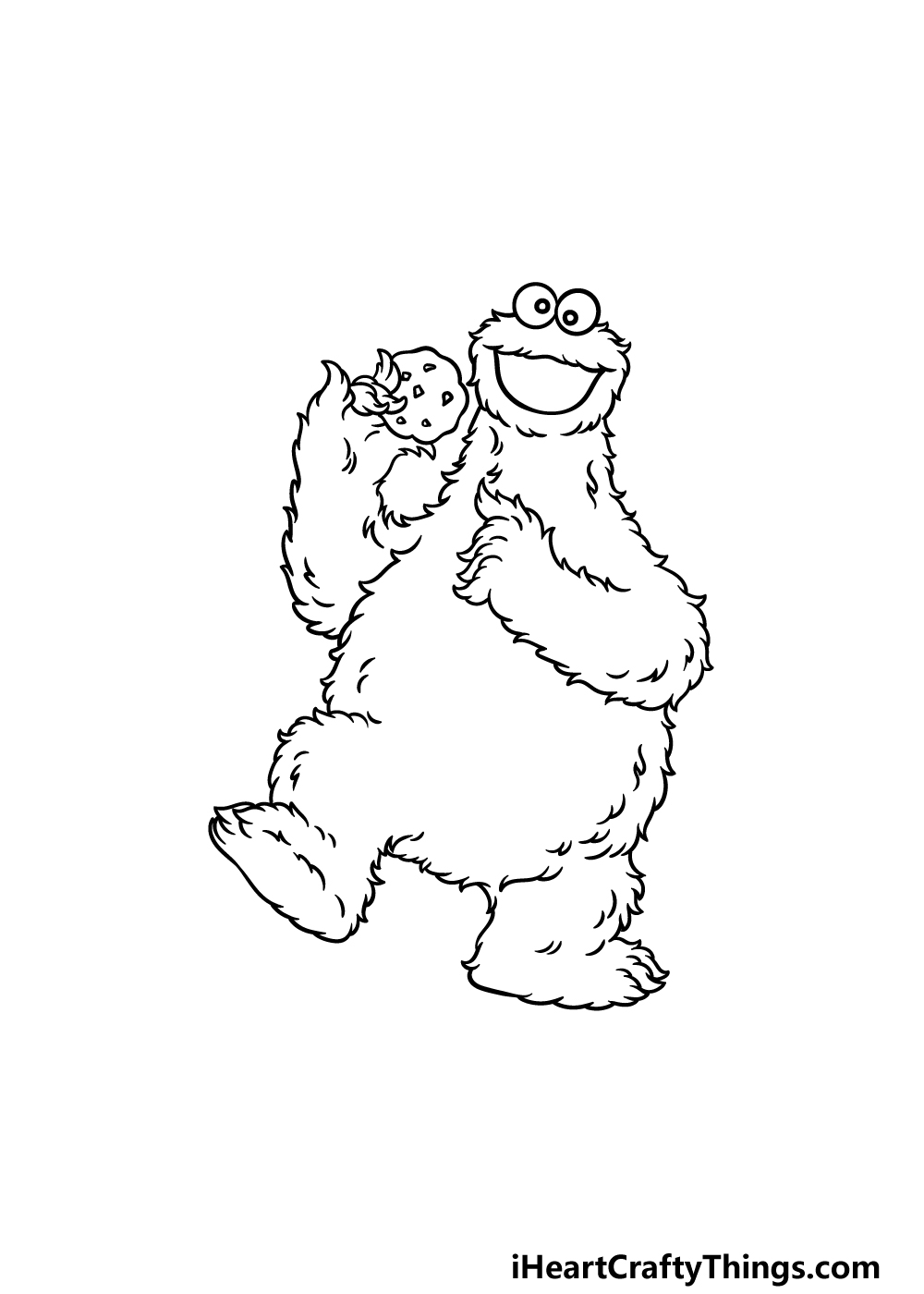 drawing a cookie monster step 5