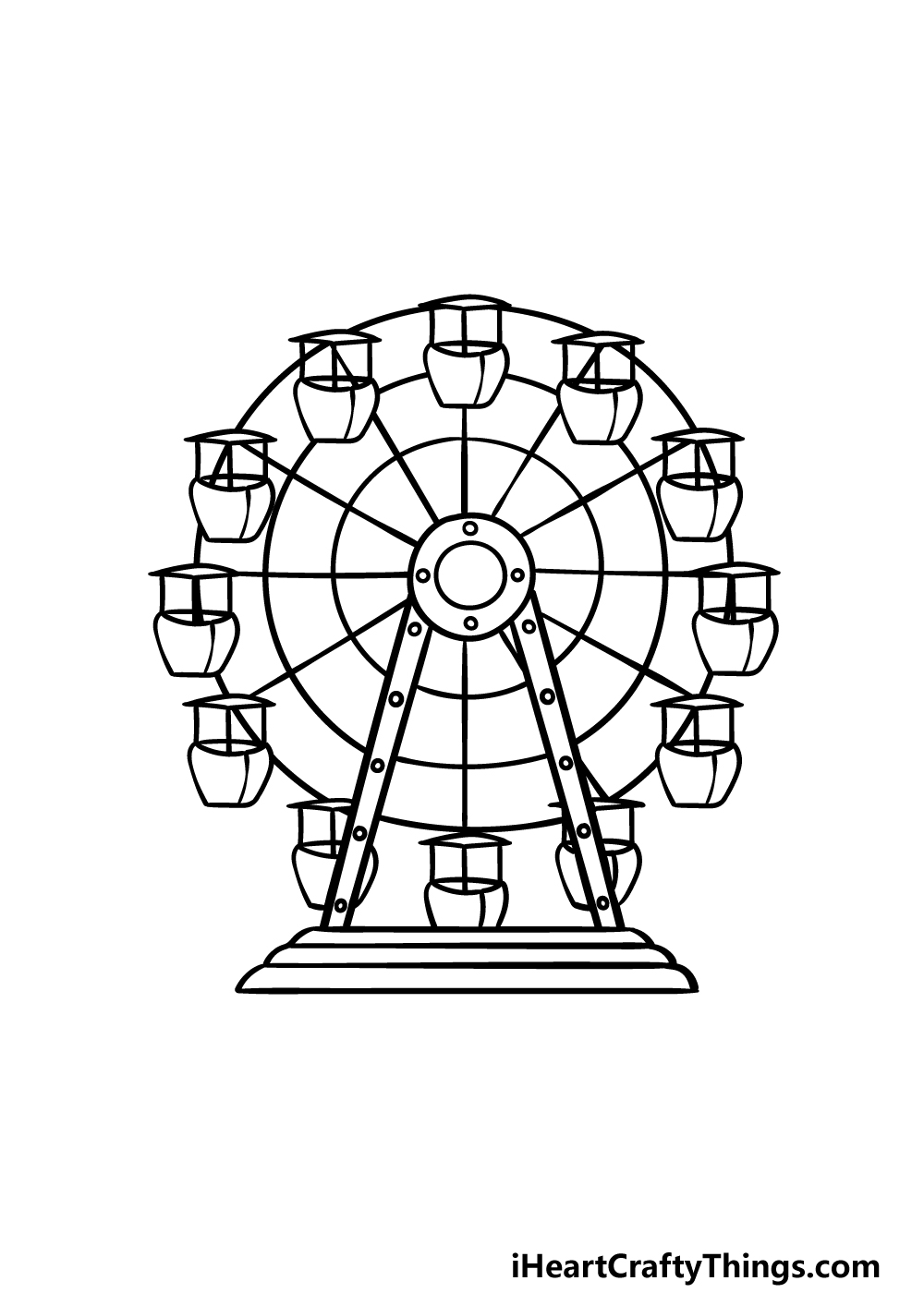 drawing Ferris Wheel step 5