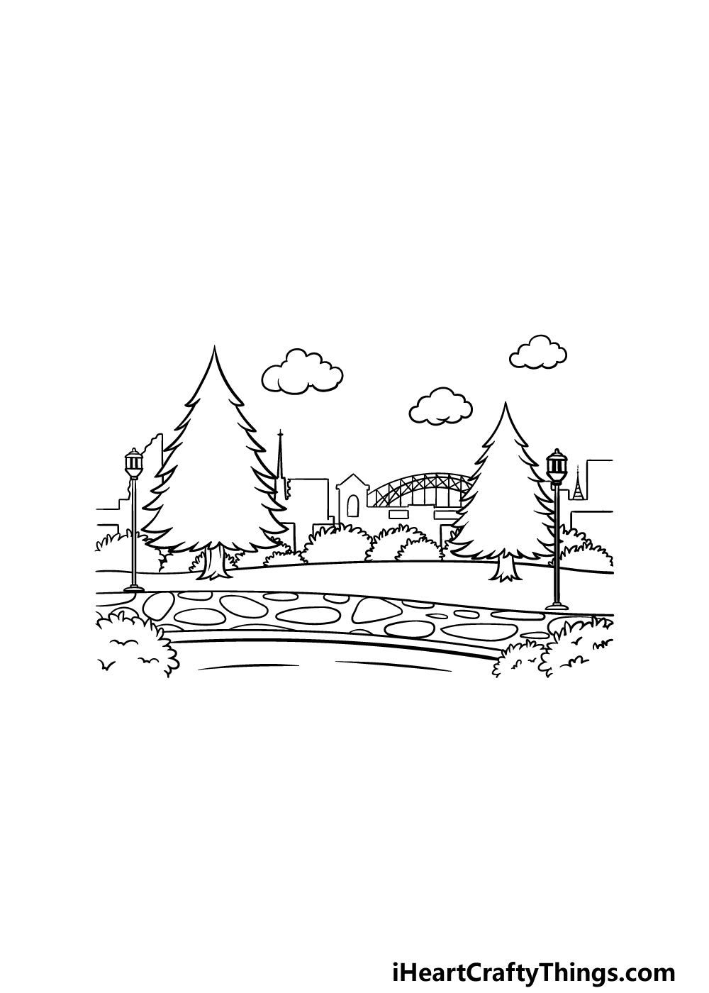 drawing a park step 5