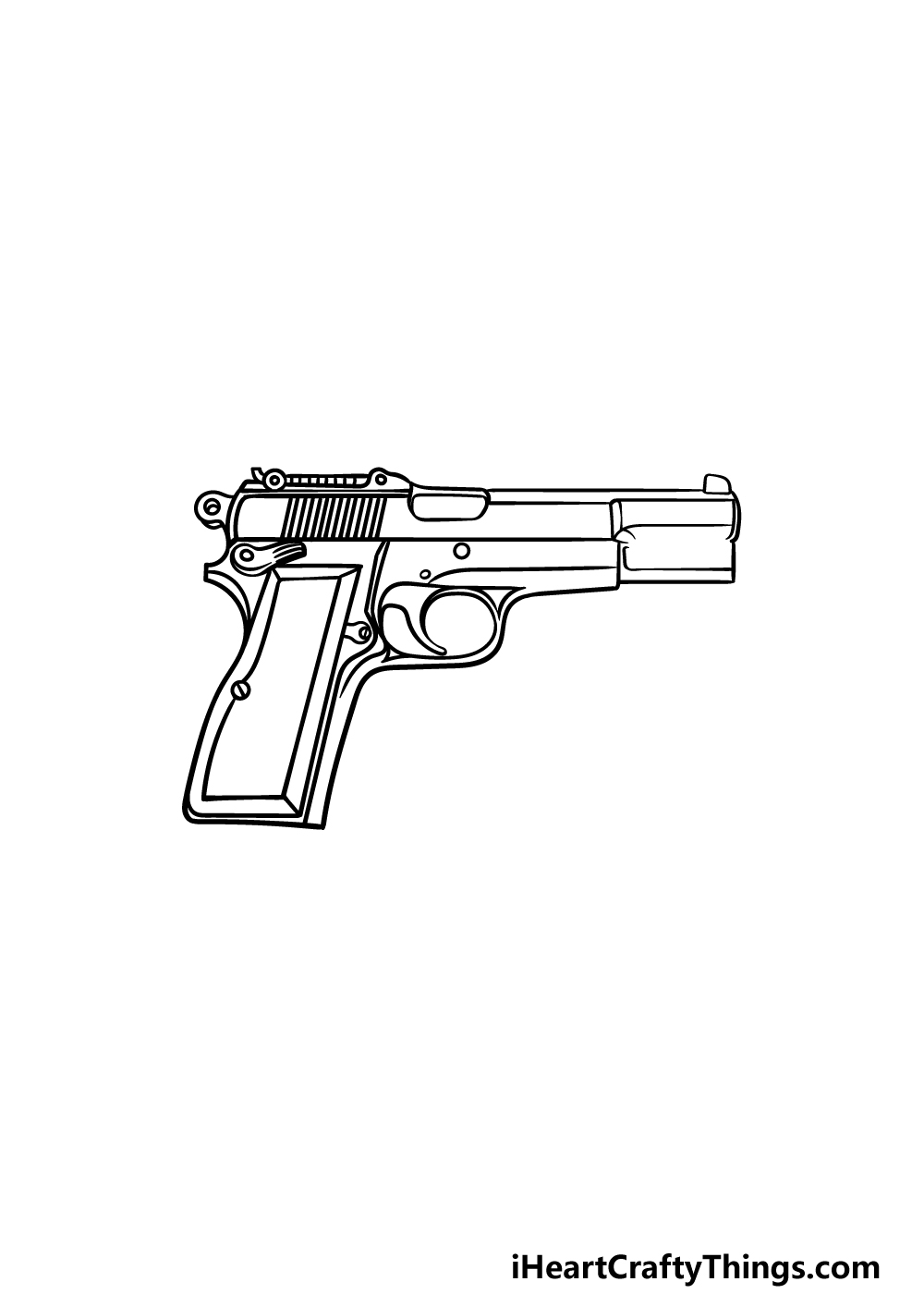 drawing a pistol step 5