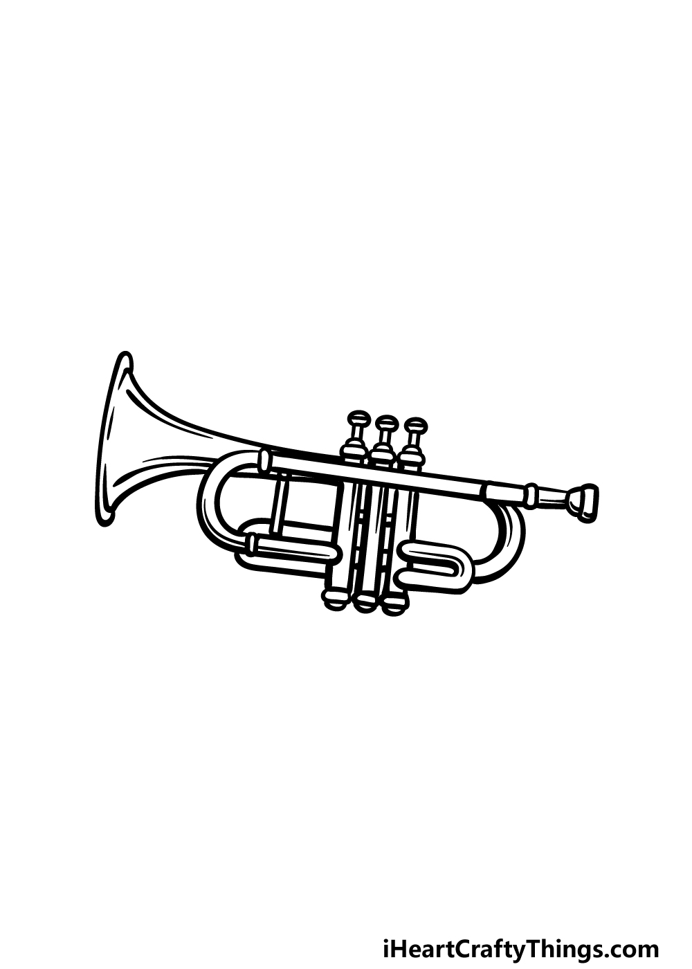 drawing a trumpet step 5