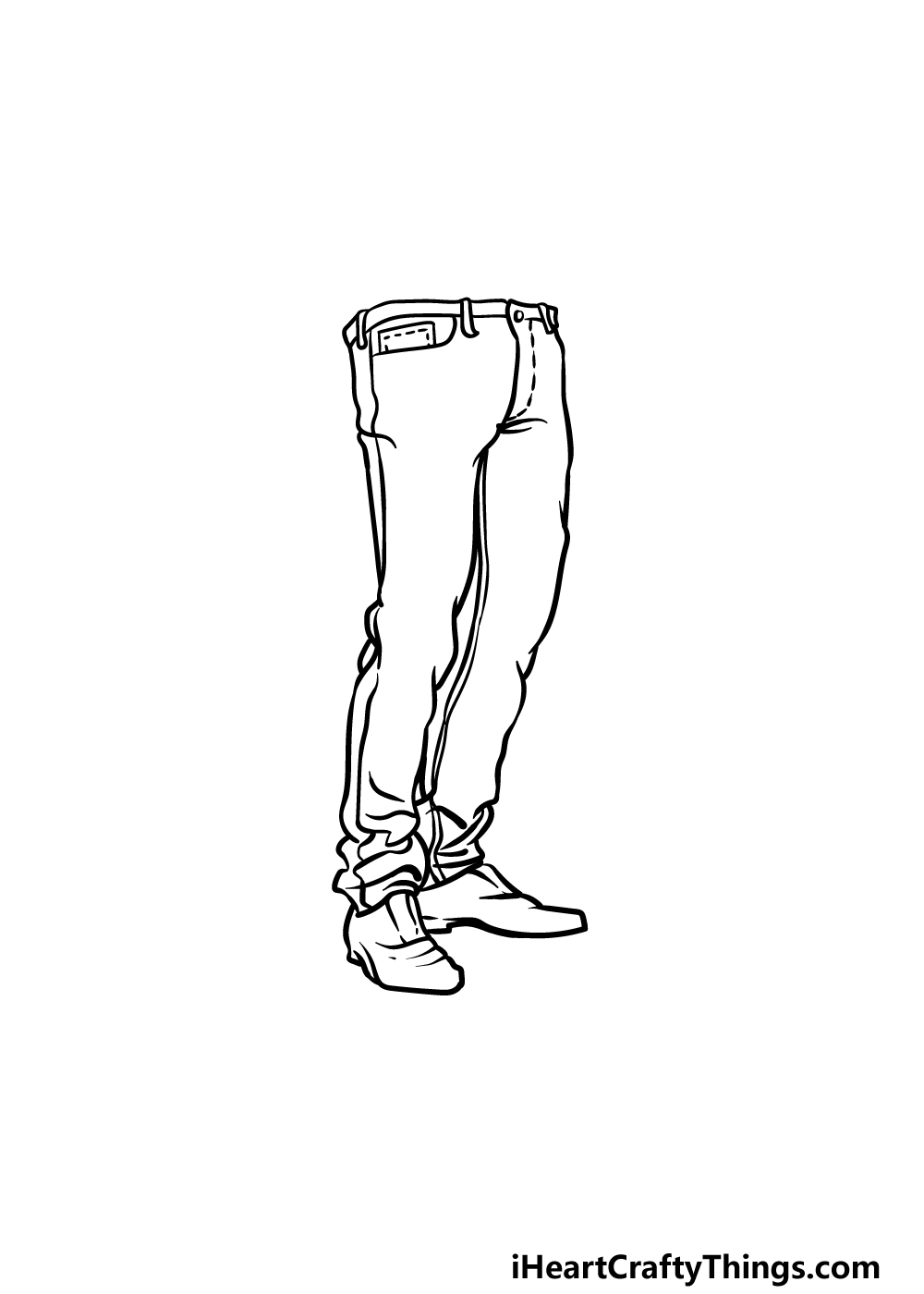 drawing jeans step 5