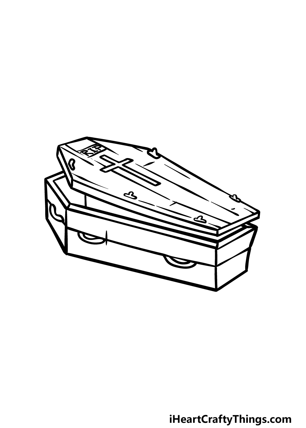 drawing a coffin step 5