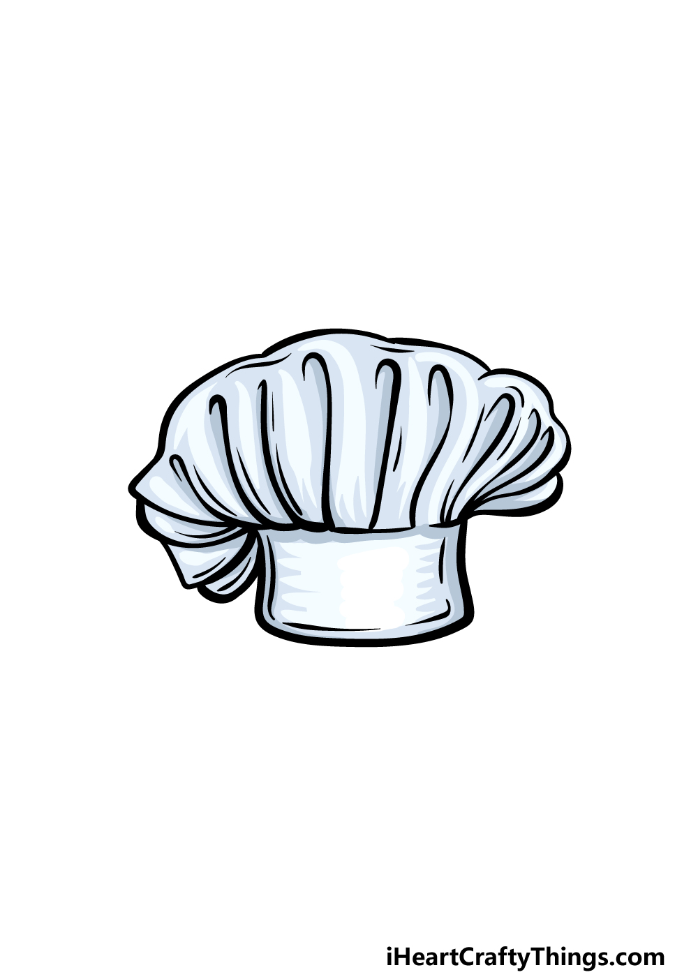 drawing chef's hat step 6