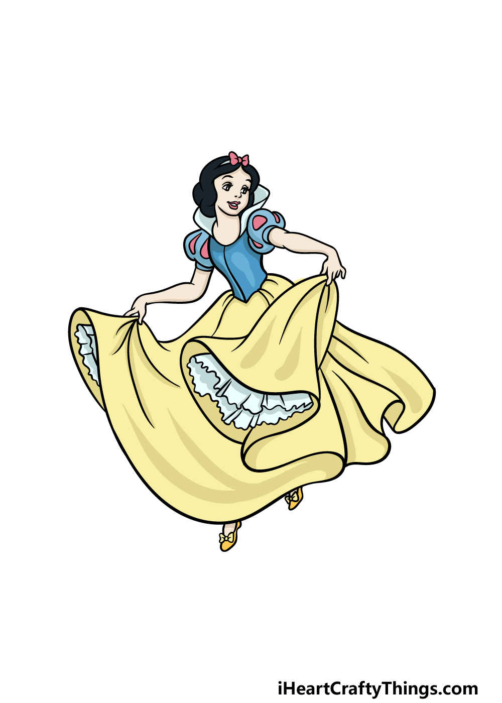 drawing Snow White step 6
