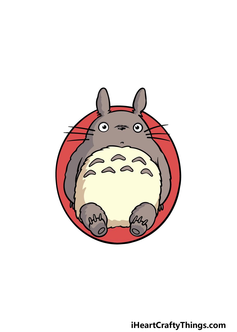 drawing Totoro step 6