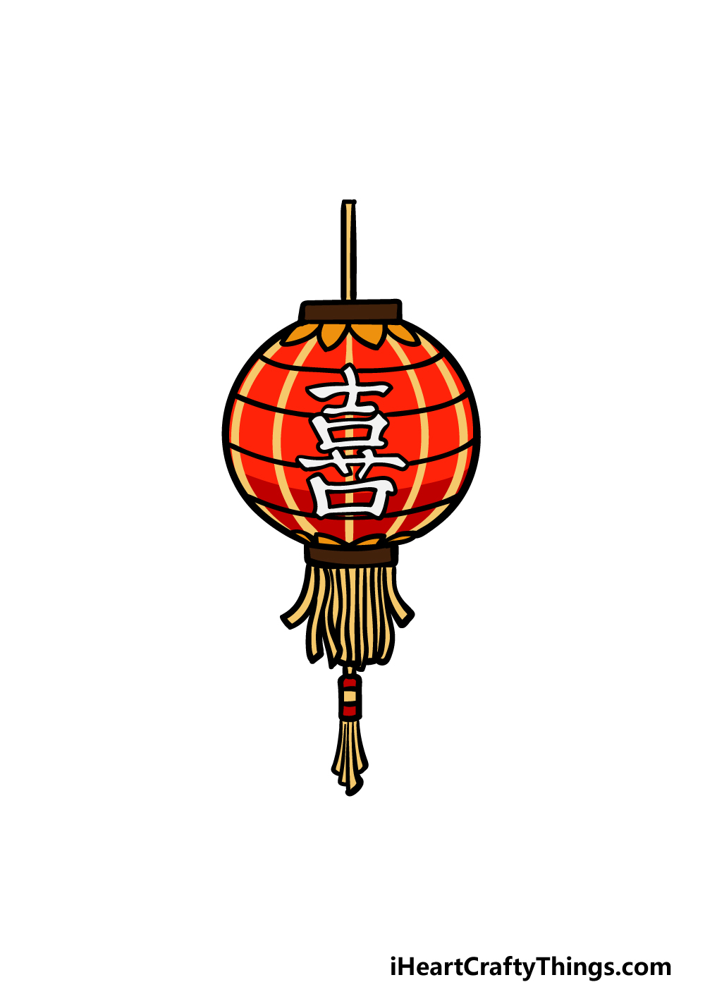 drawing a lantern step 6