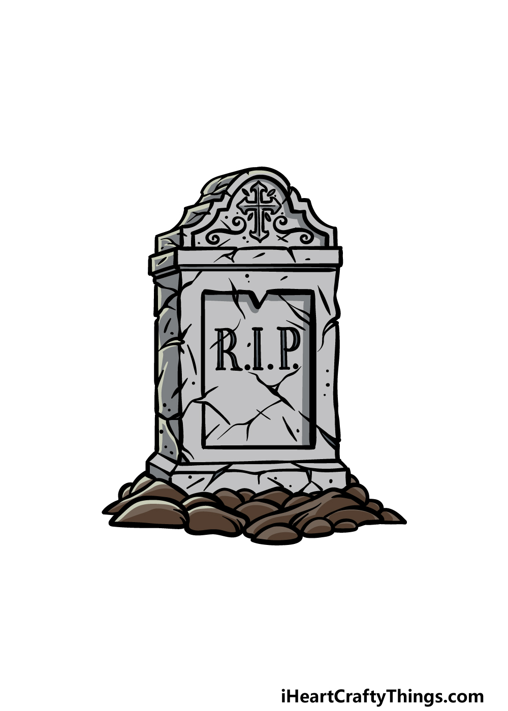 drawing a tombstone step  6