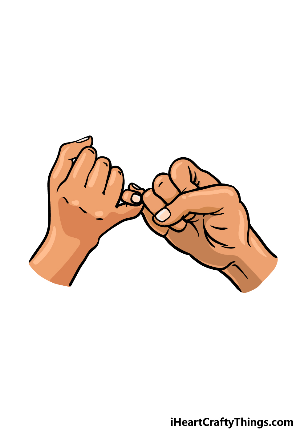drawing a Pinky Promise step 6