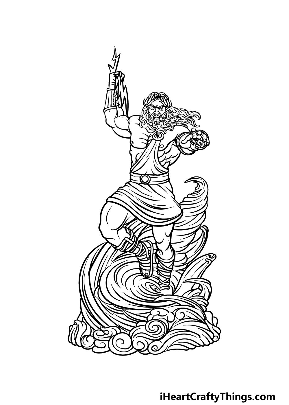 drawing Zeus step 6