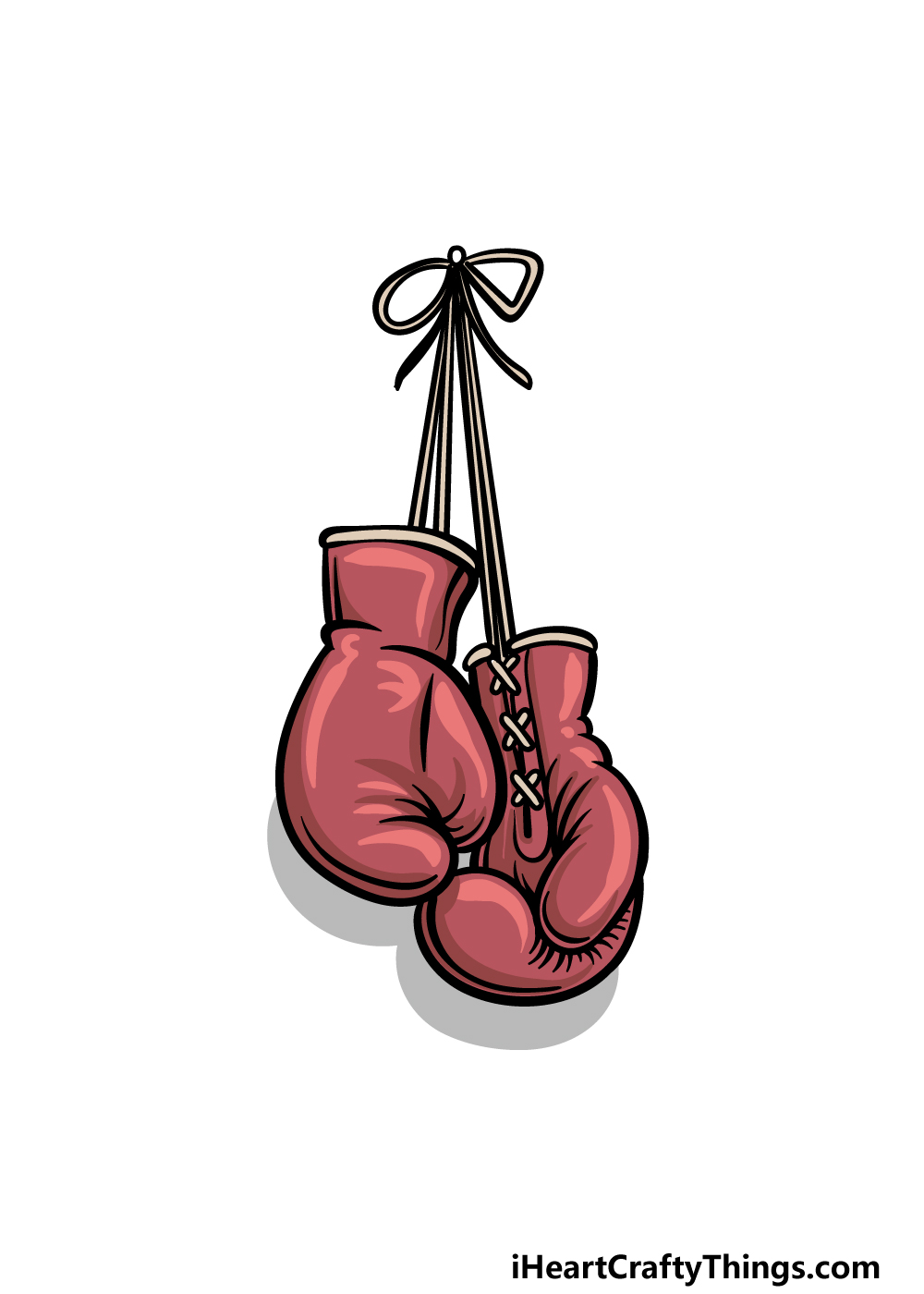 drawing boxing gloves step 6