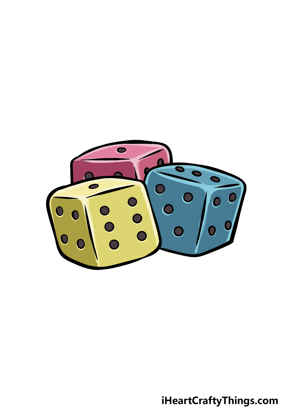 drawing the dice step 6