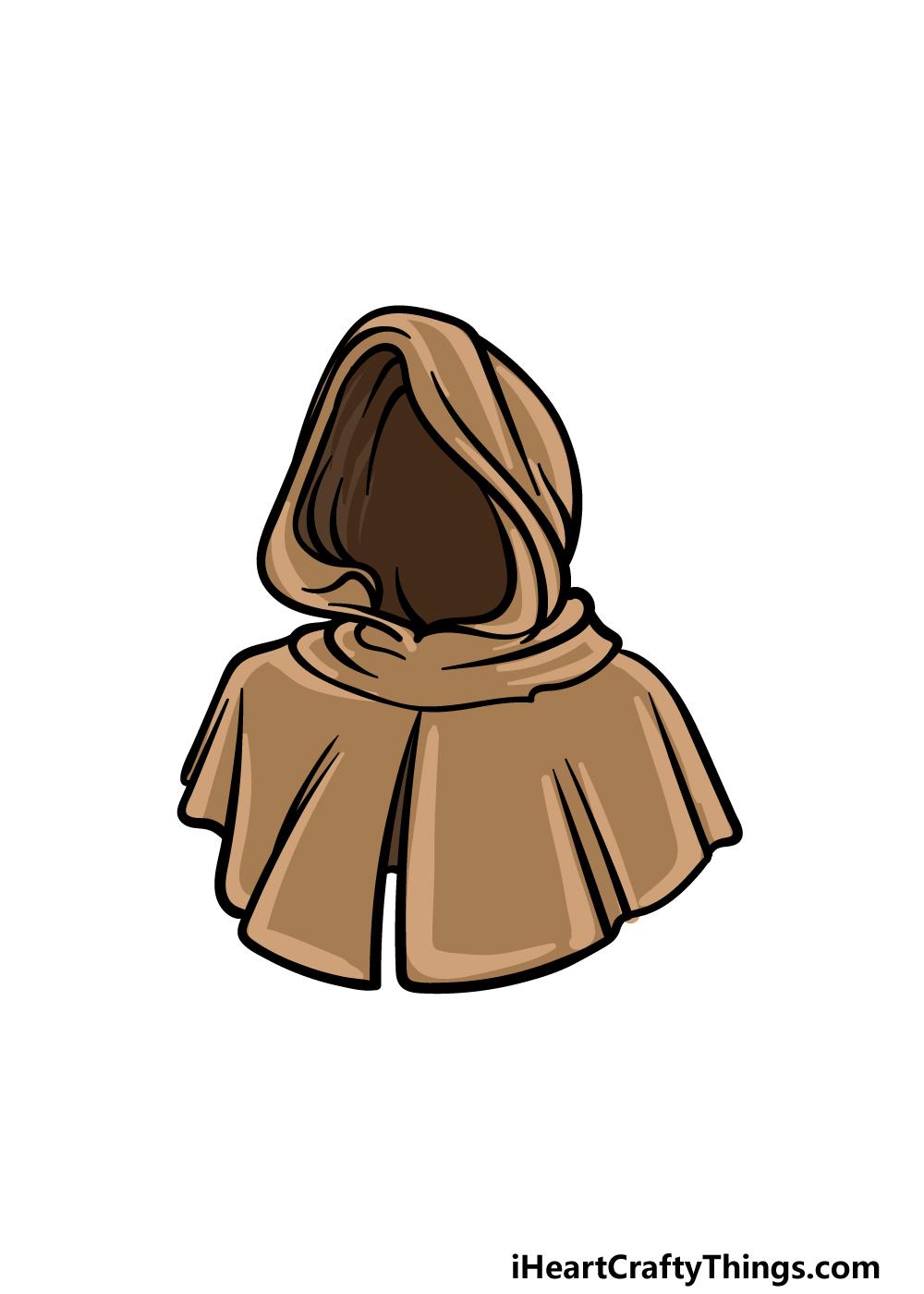 drawing a hood step 6