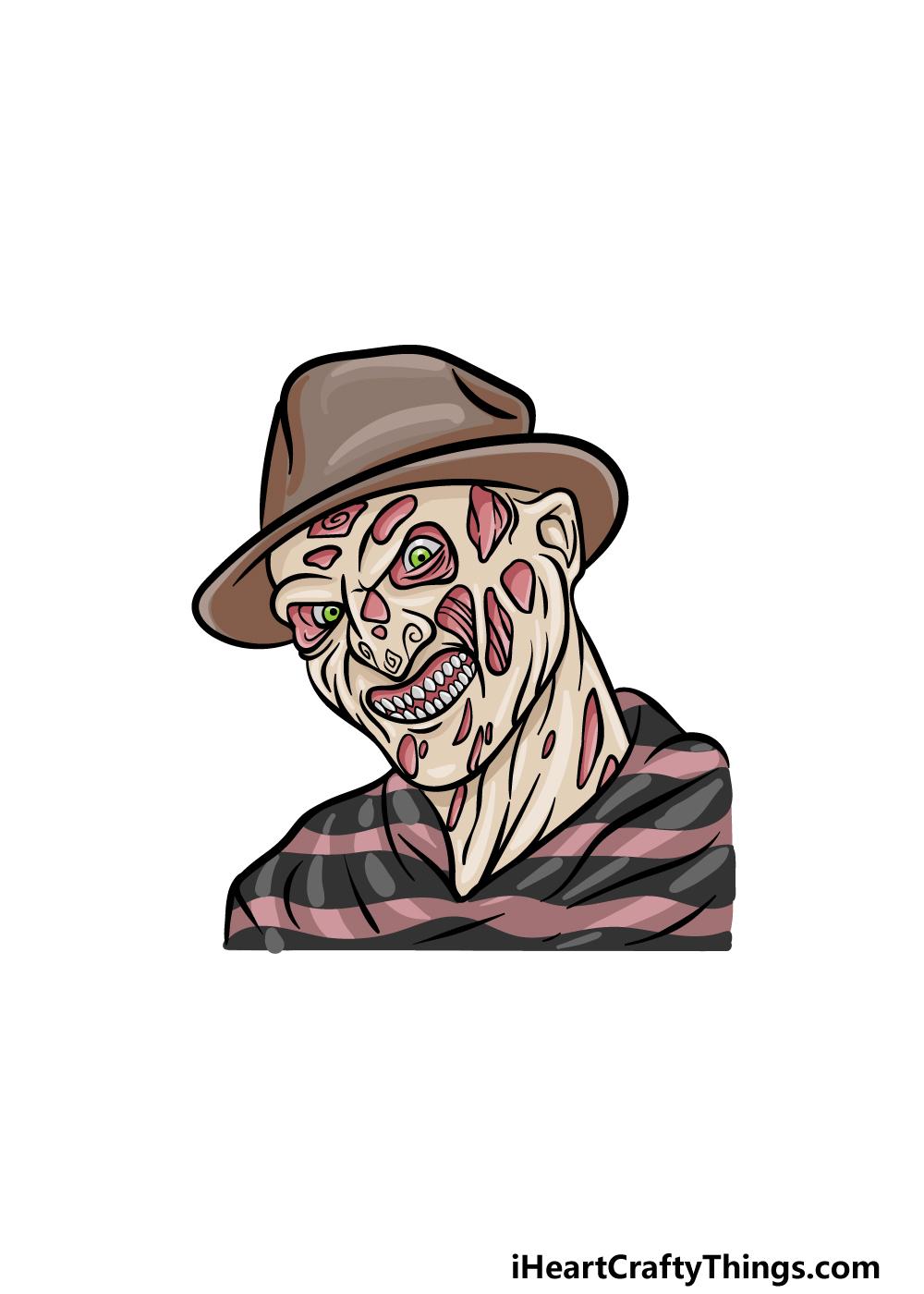 Drawing Freddy Krueger step 6