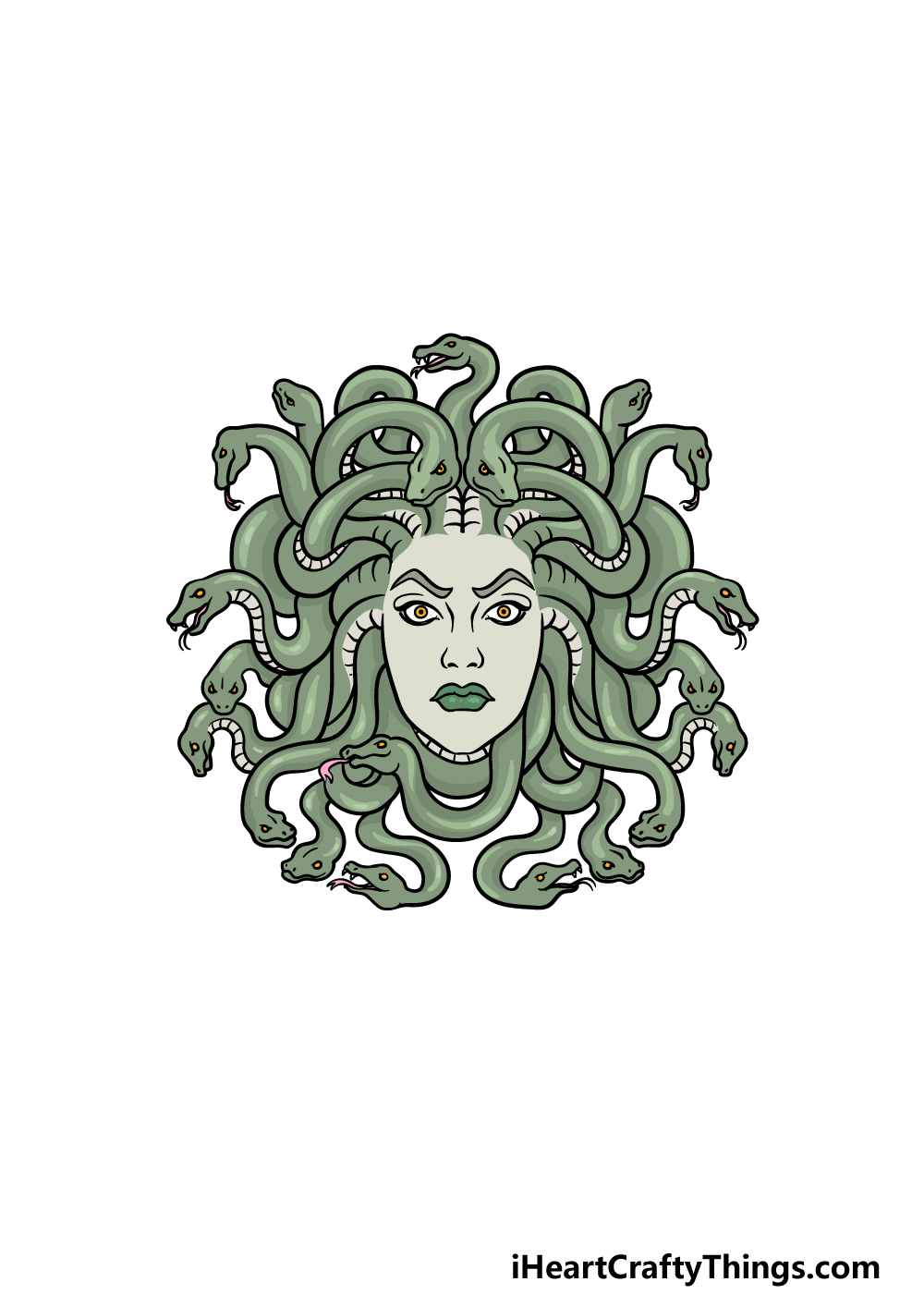 drawing Medusa step 6