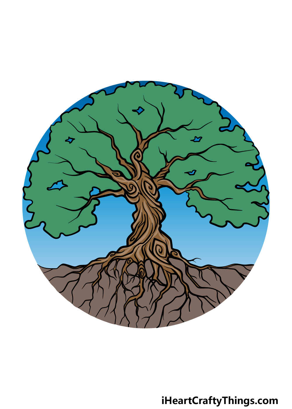 drawing the tree of life step 6
