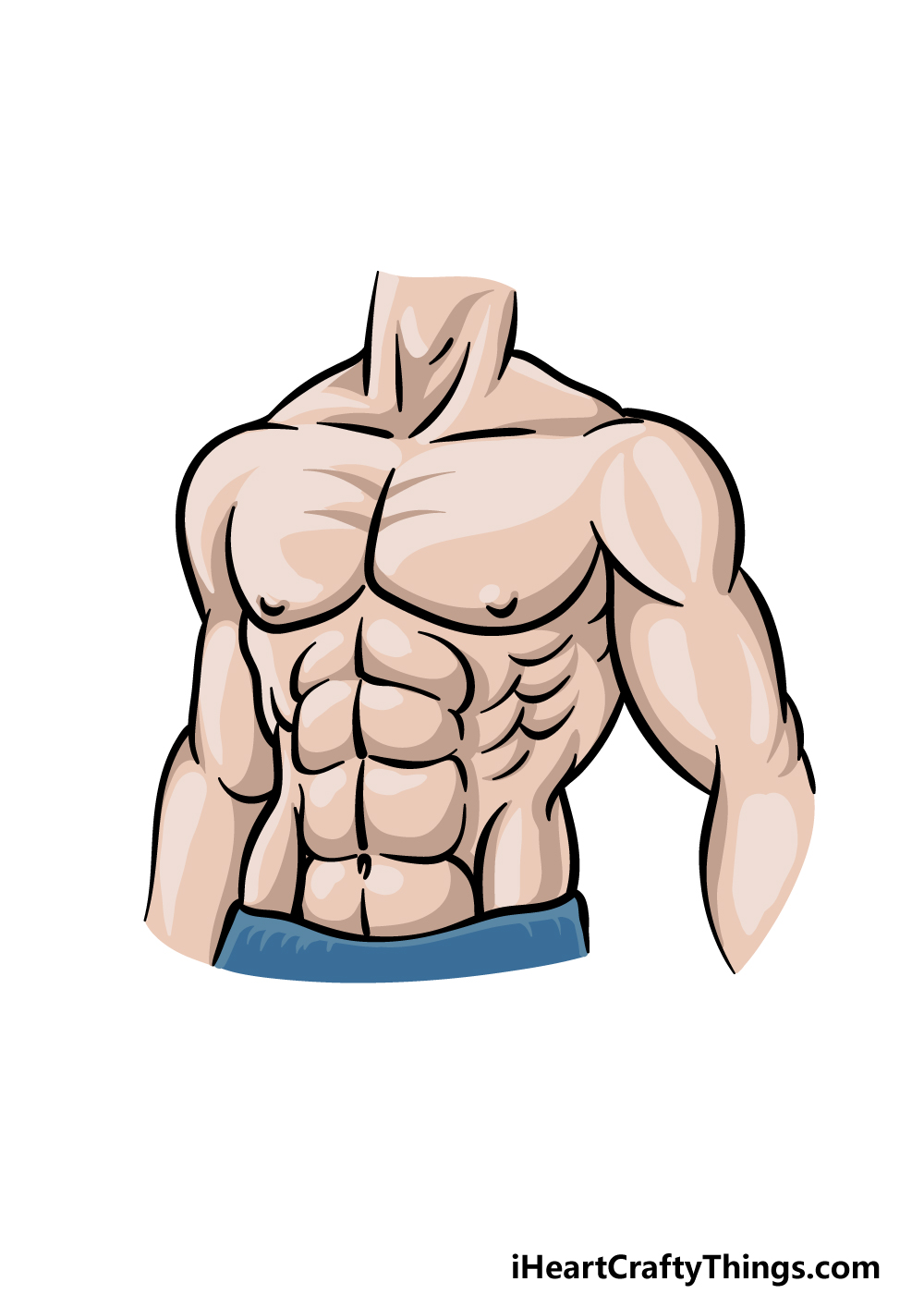 drawing abs step 6