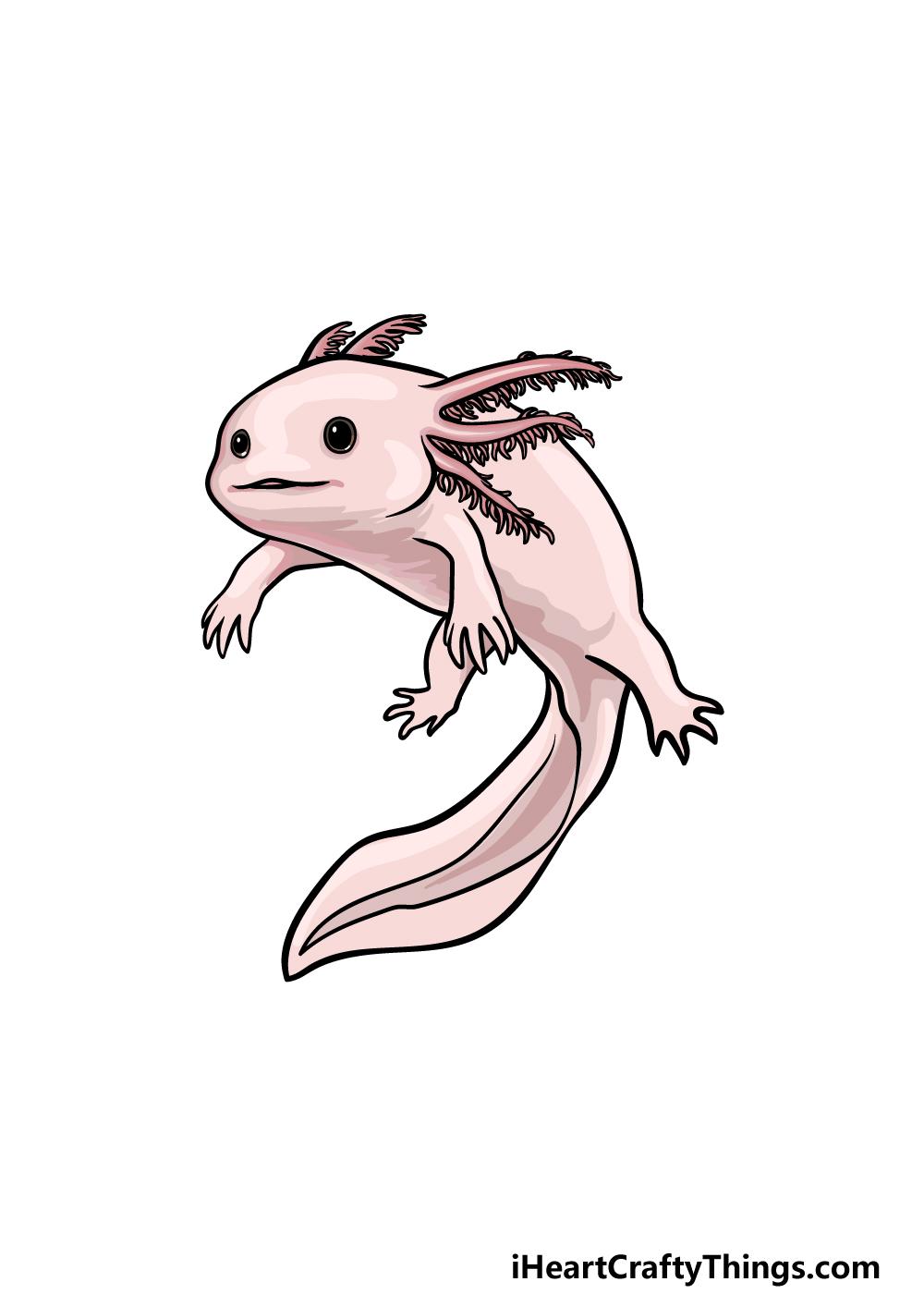Drawing An Axolotl step 6