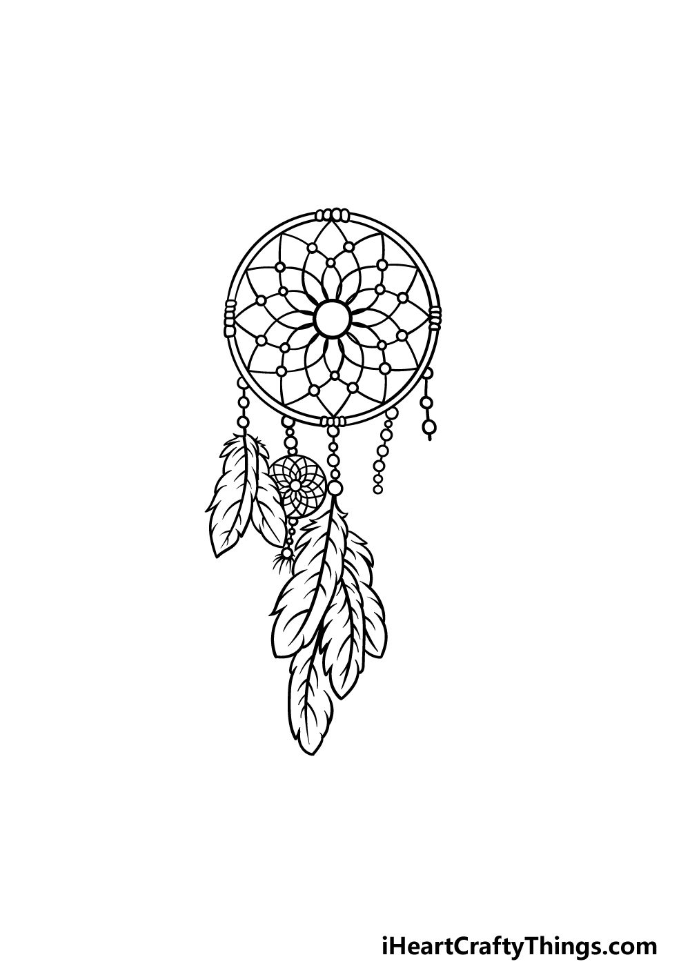drawing dream catcher step 6