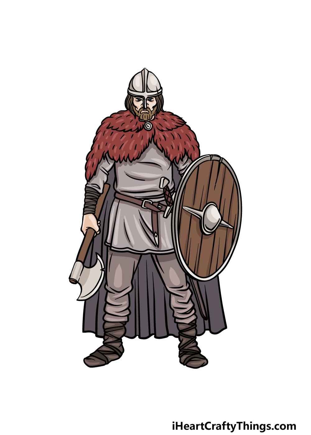 drawing a viking step 6