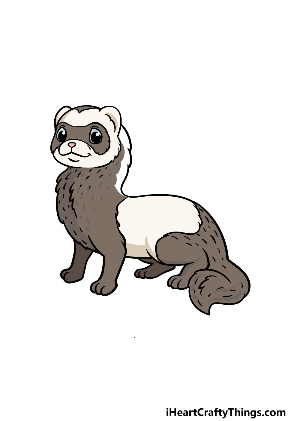 drawing a ferret step 6
