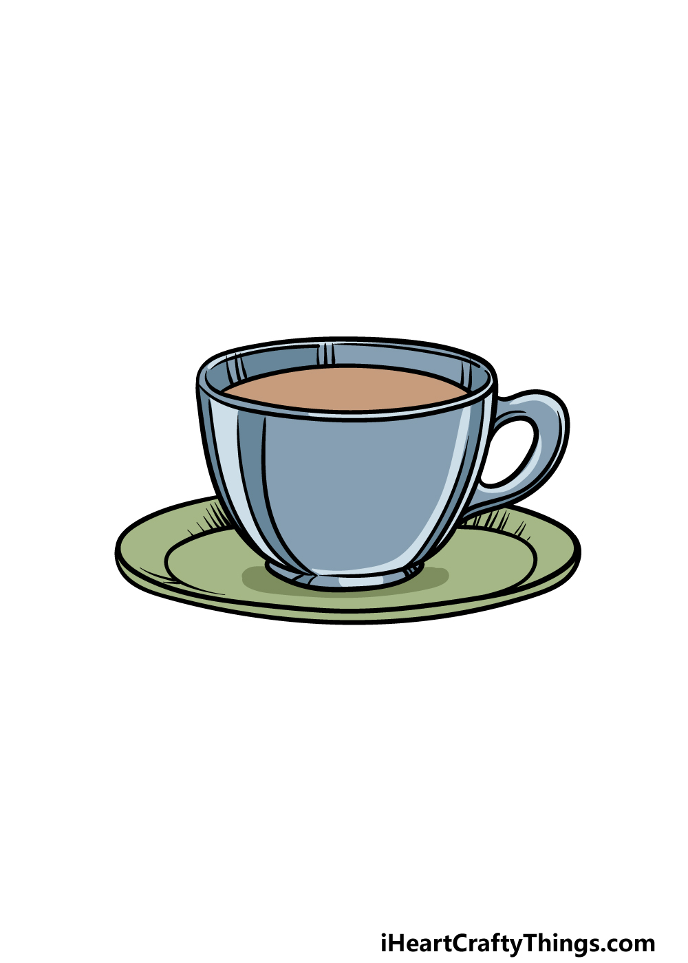 drawing a tea cup step 6