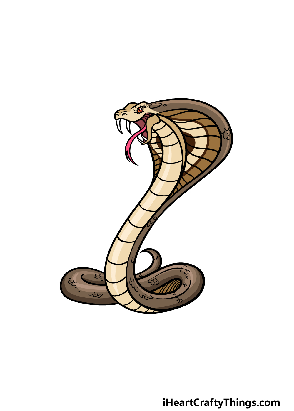 drawing cobra step 6
