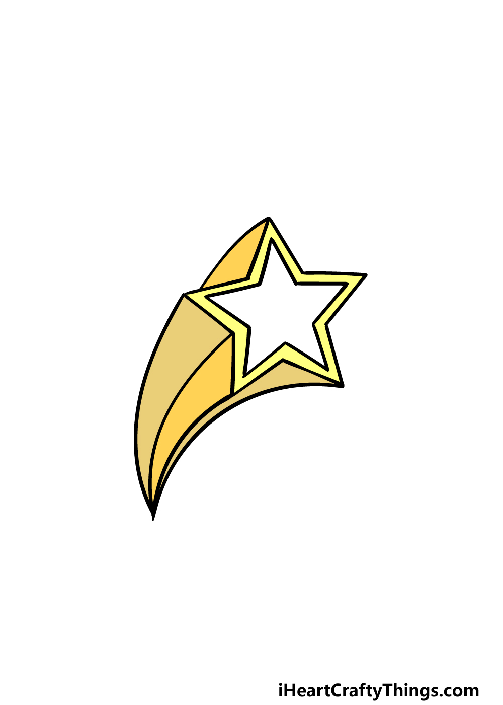 drawing a Shooting Star step 6