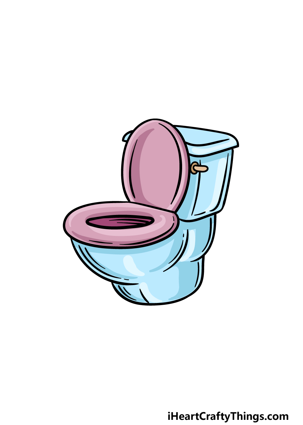 drawing a toilet step 5