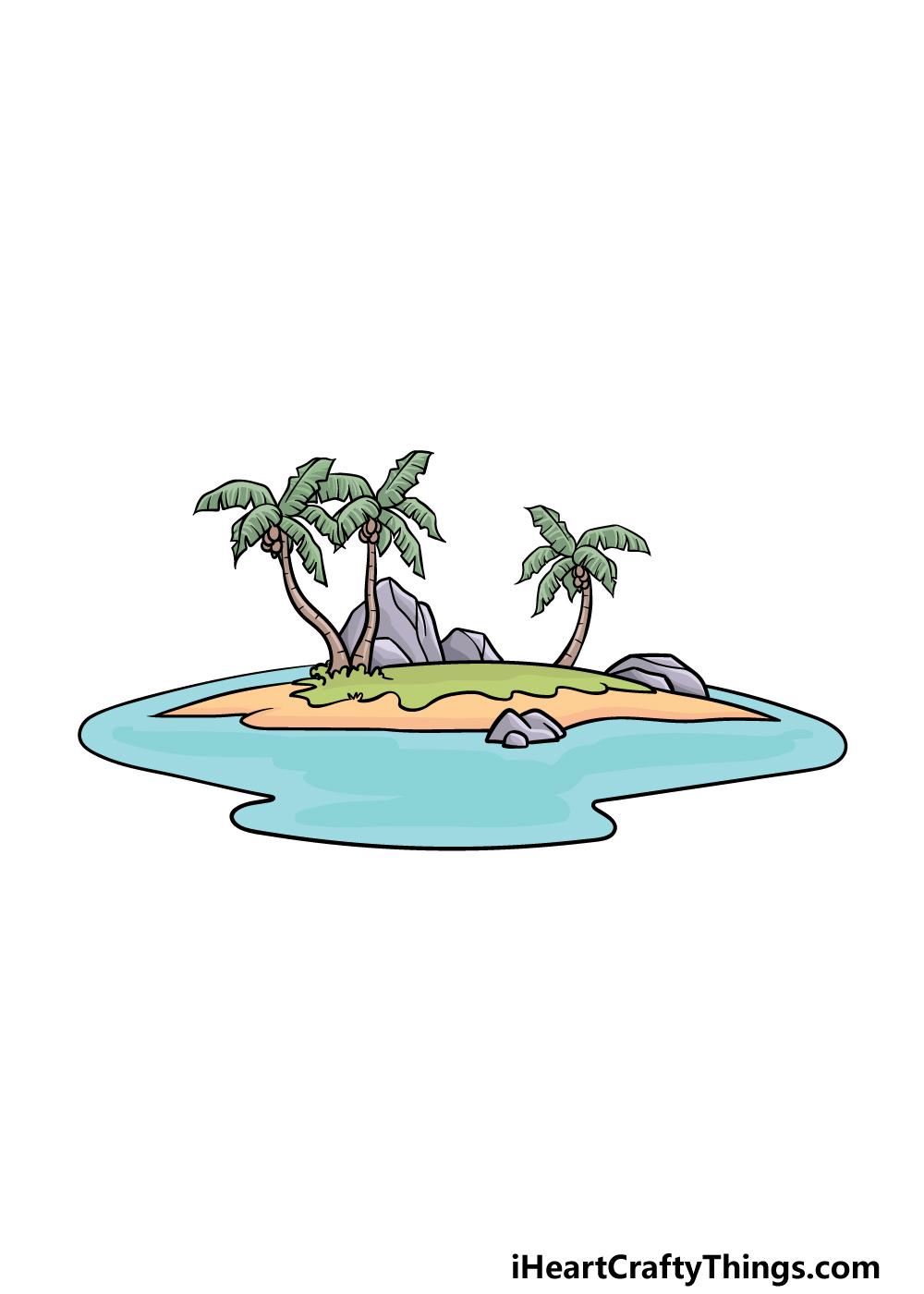 drawing an island step 6