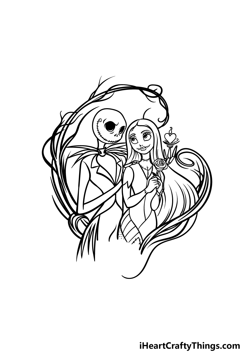 drawing Jack and Sally step 6