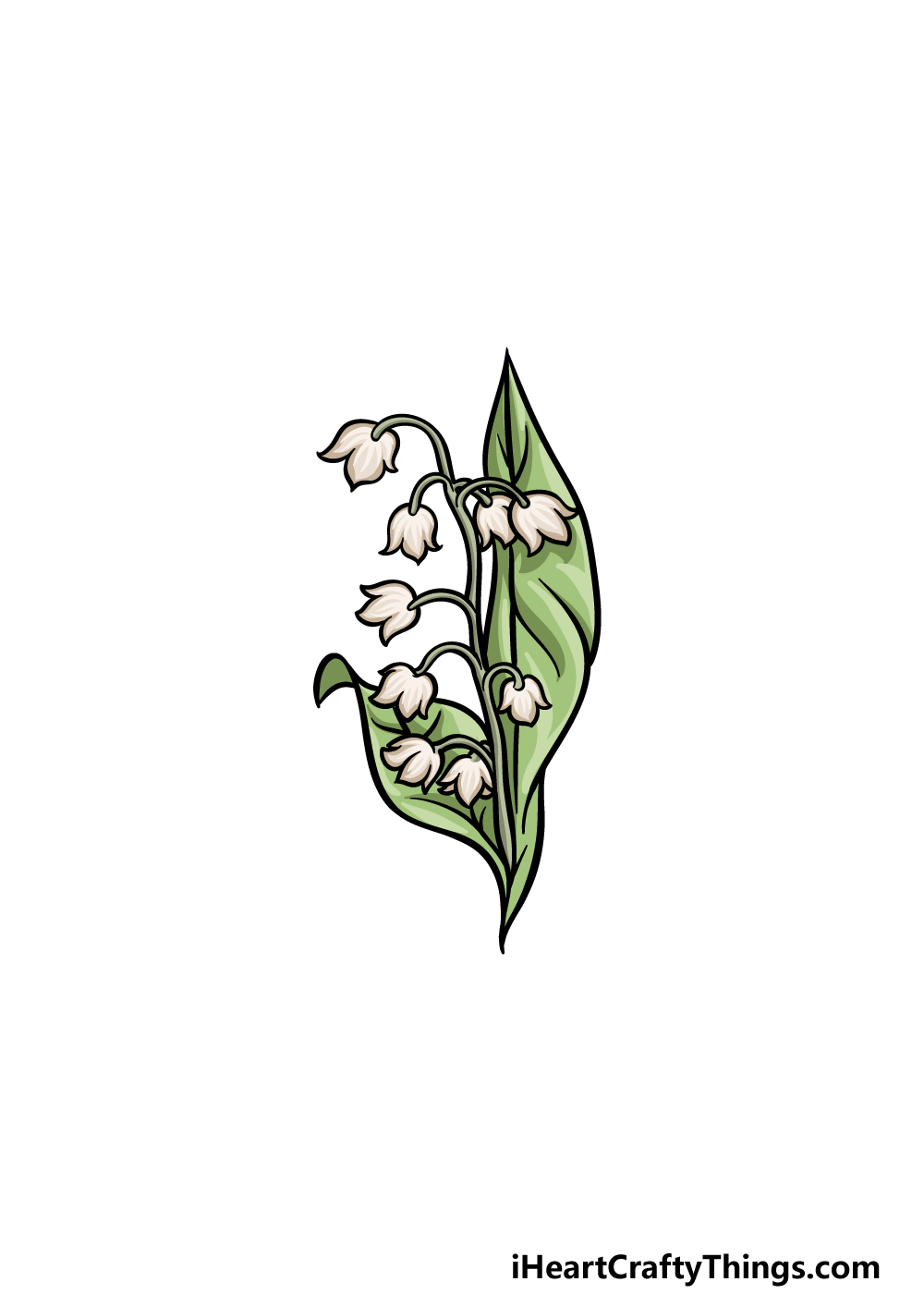 drawing lily of the valley step 6