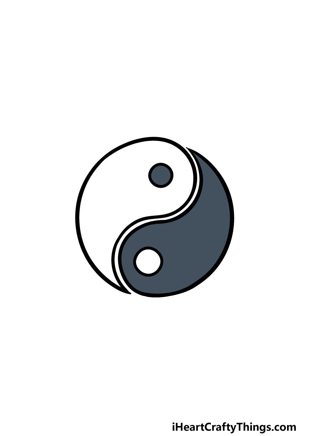 drawing Yin and Yang step 6