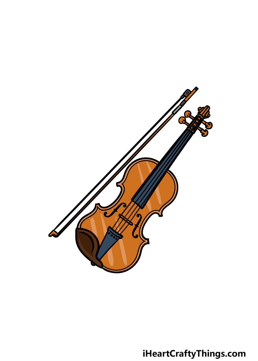 drawing a violin step 6