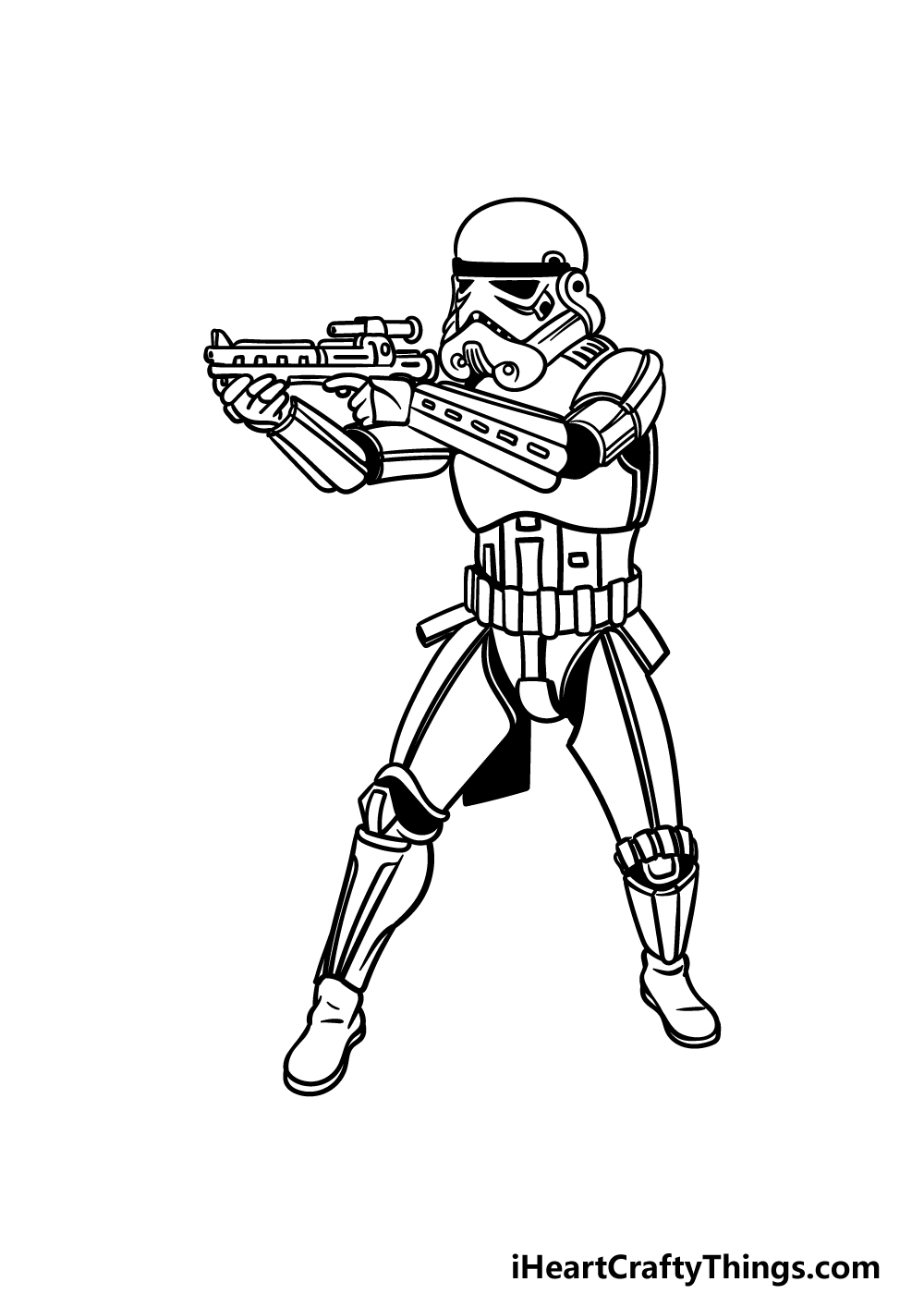 drawing a Stormtrooper step 6