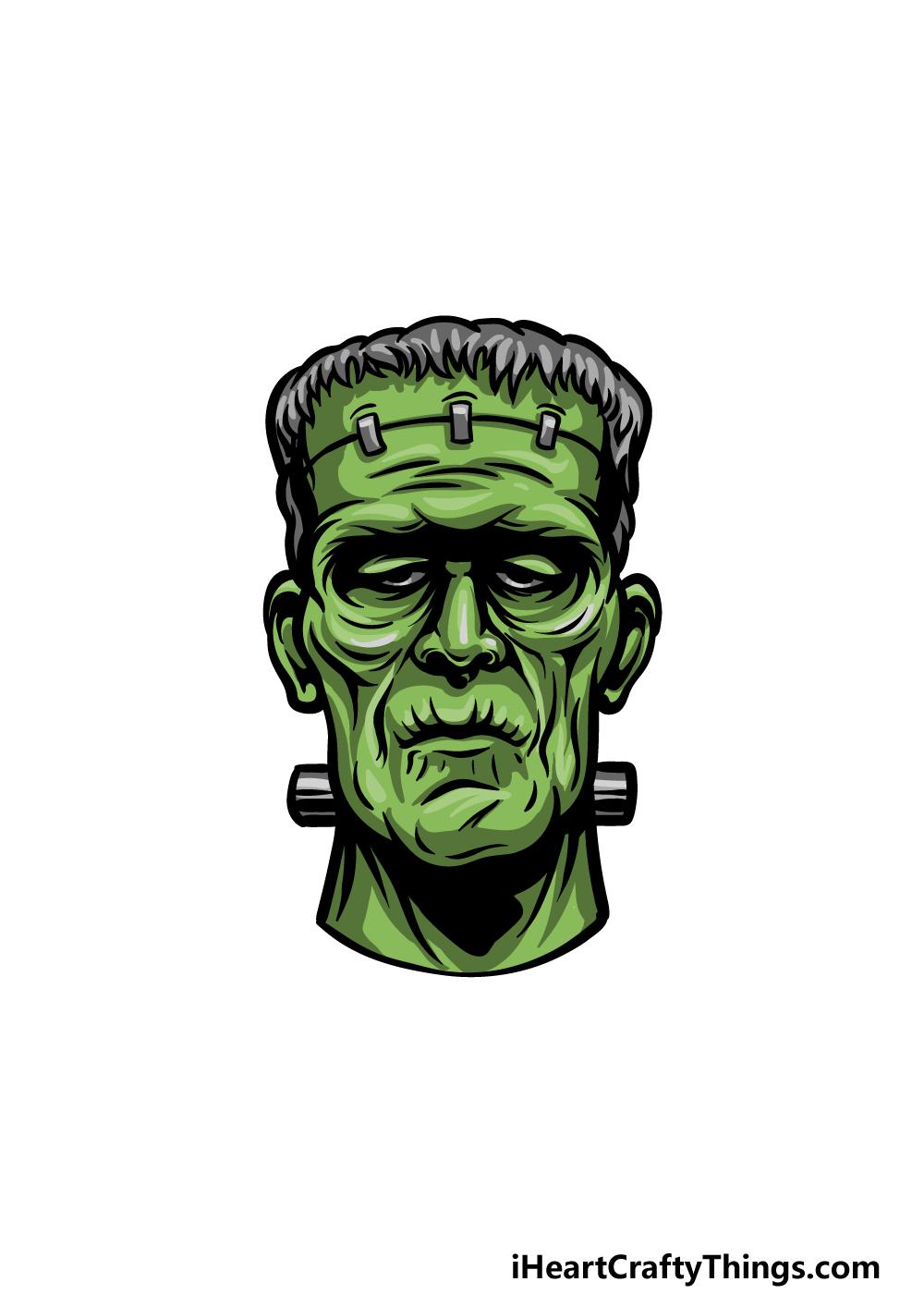 Drawing Frankenstein step 6