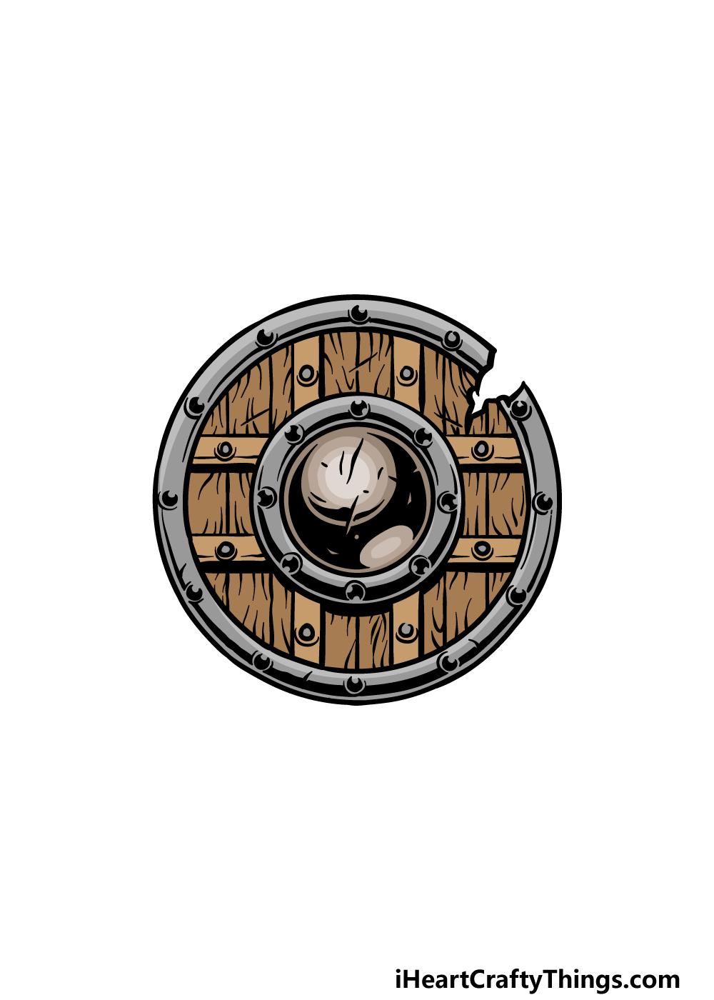 drawing a shield step 6