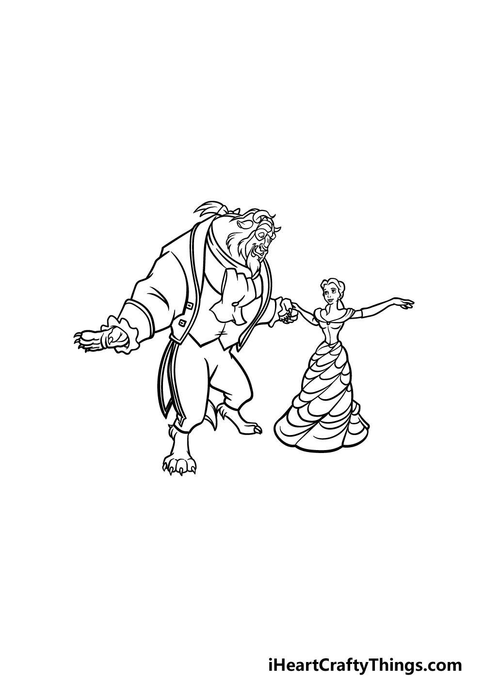 drawing Beauty and the Beast step 6