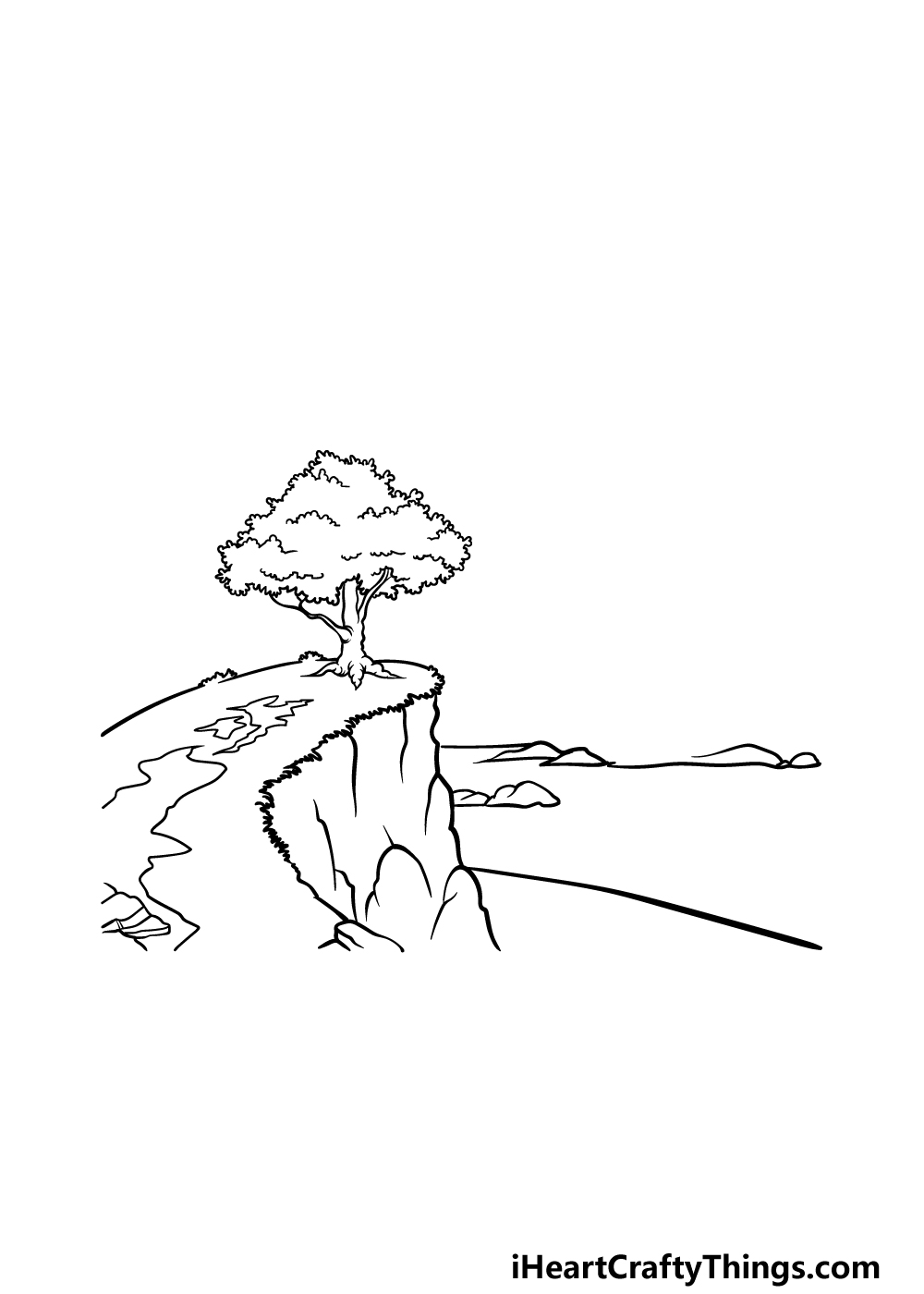 drawing a cliff step 6