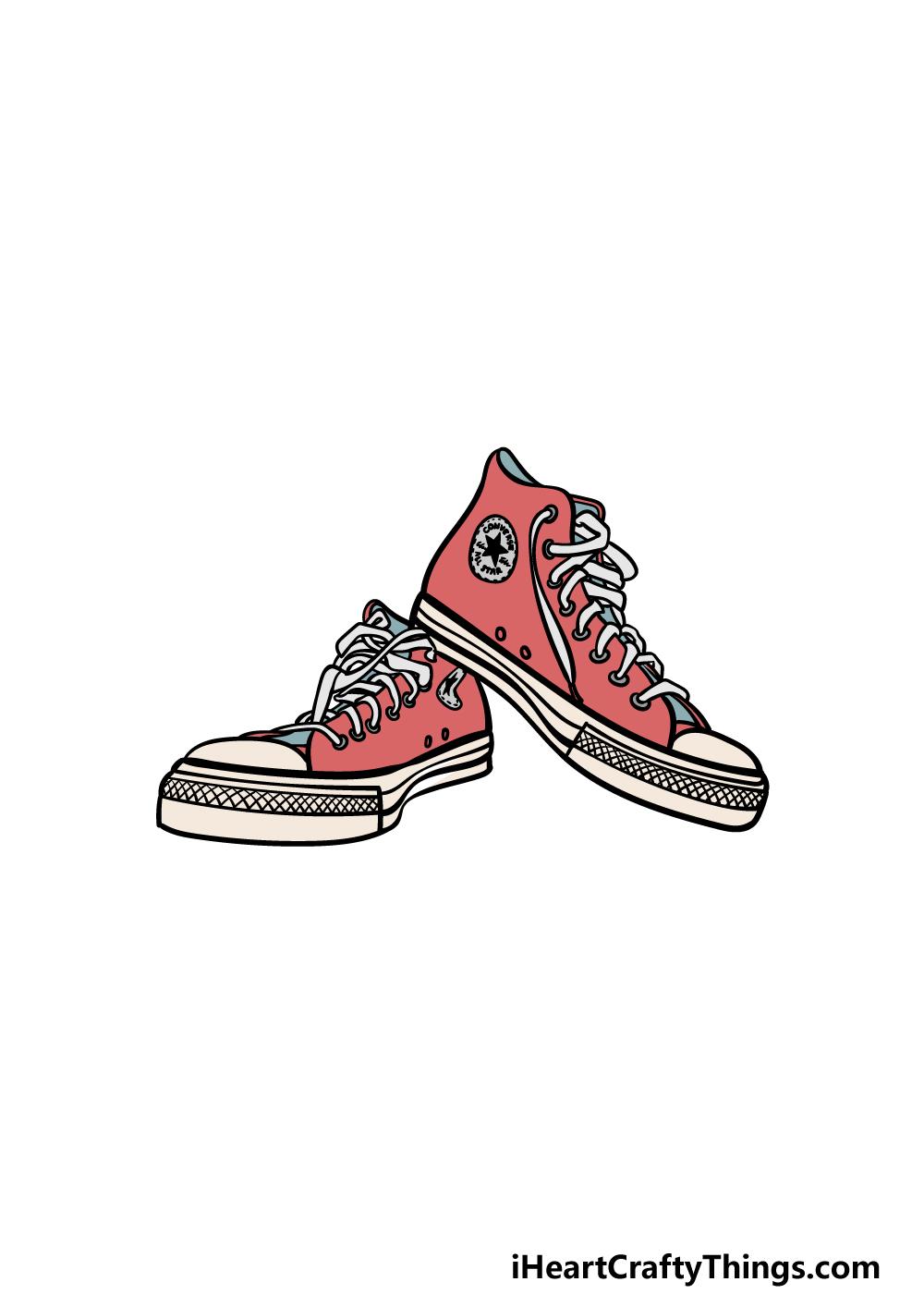 drawing converse step 6