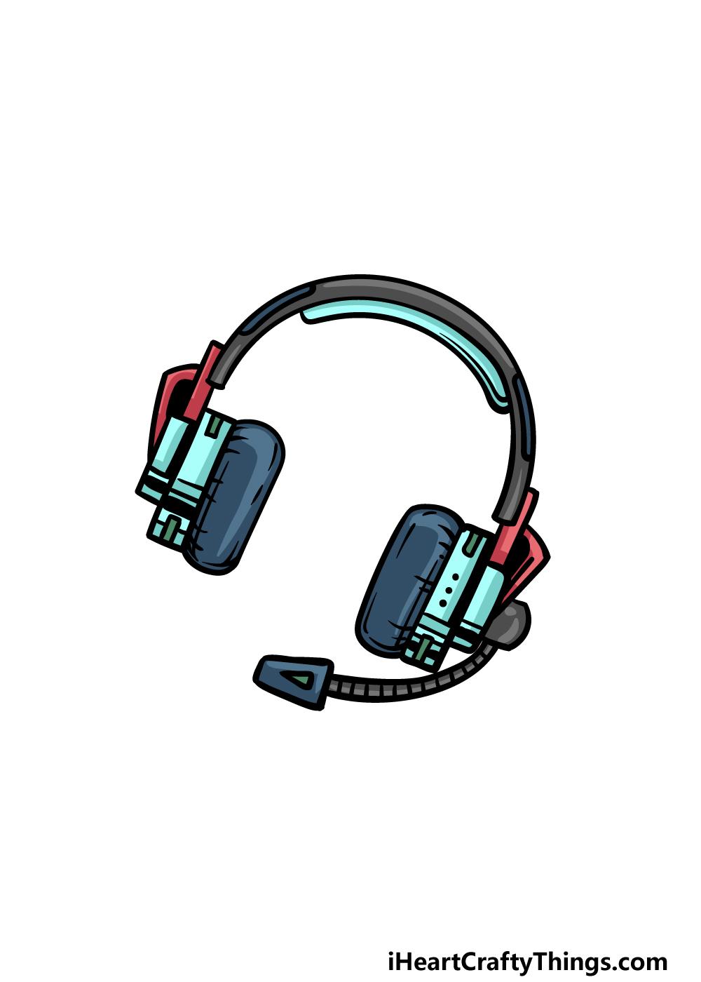 drawing headphones step 6
