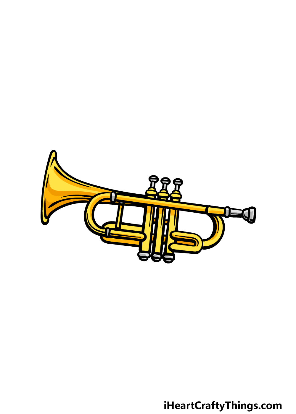 drawing a trumpet step 6