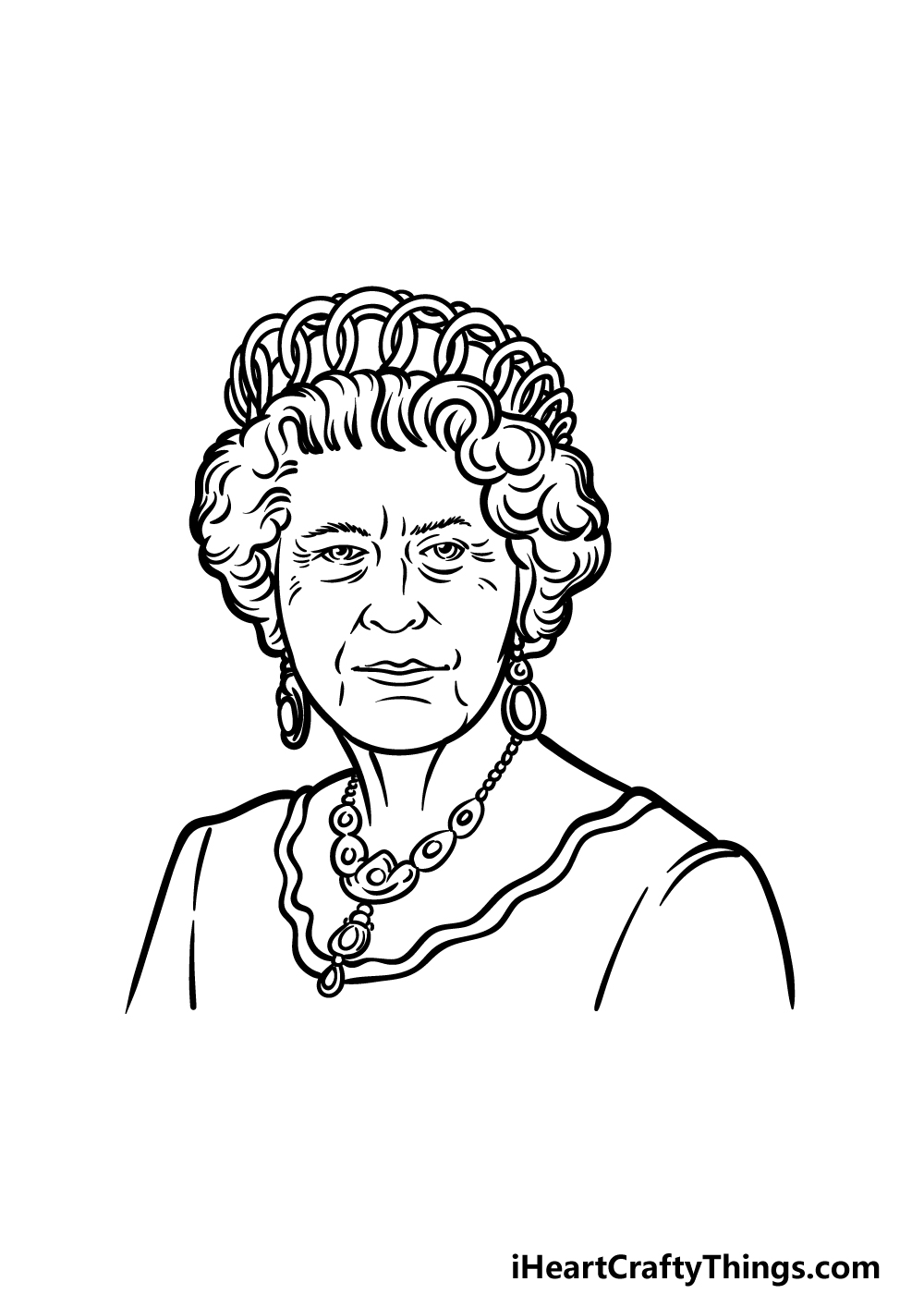 drawing the Queen step 7