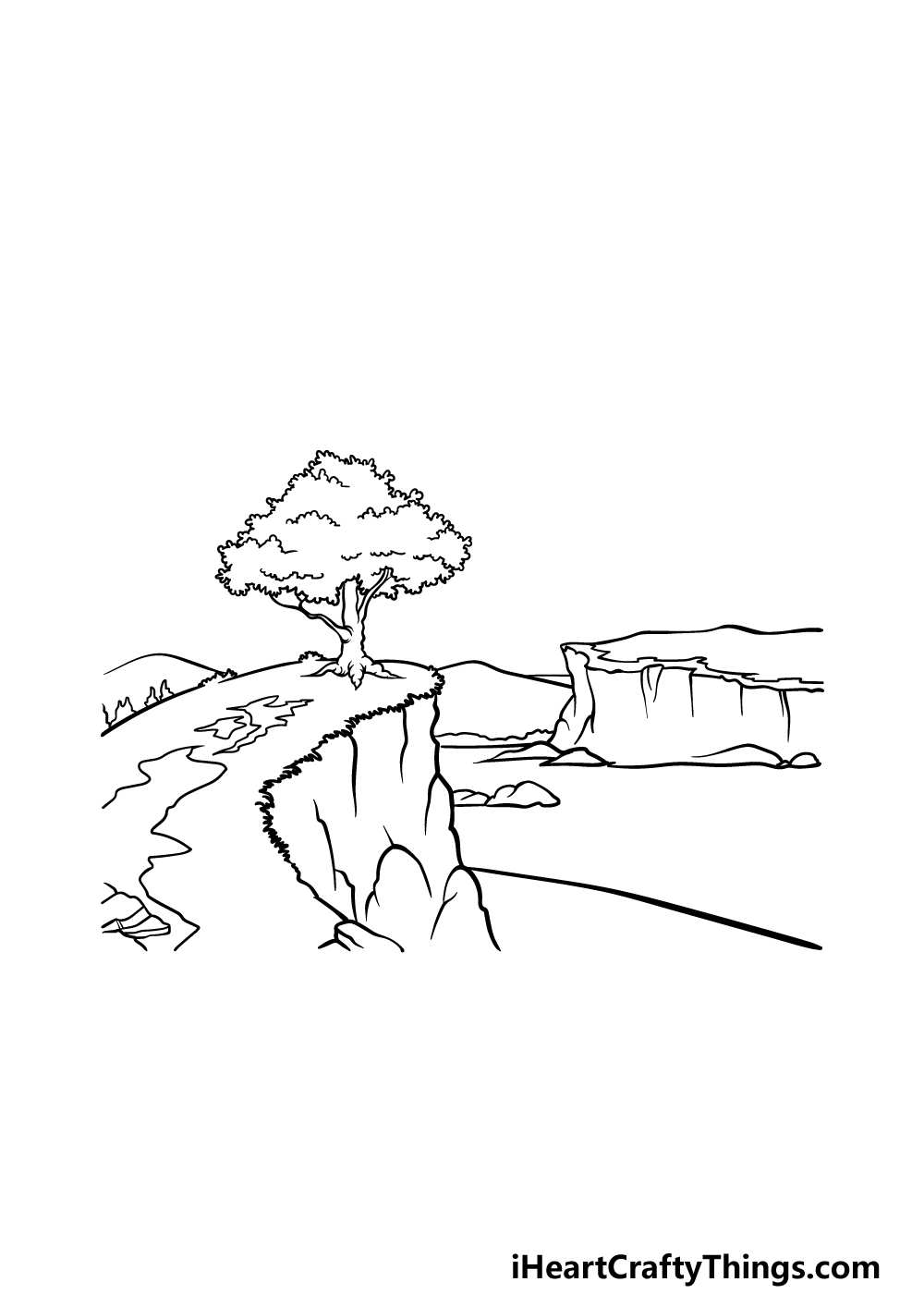 drawing a cliff step 7