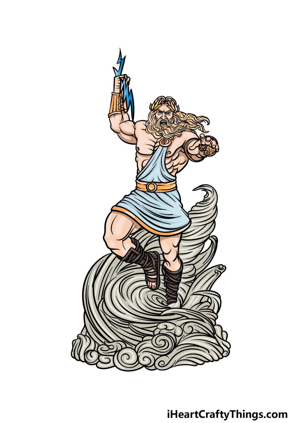drawing Zeus step 7