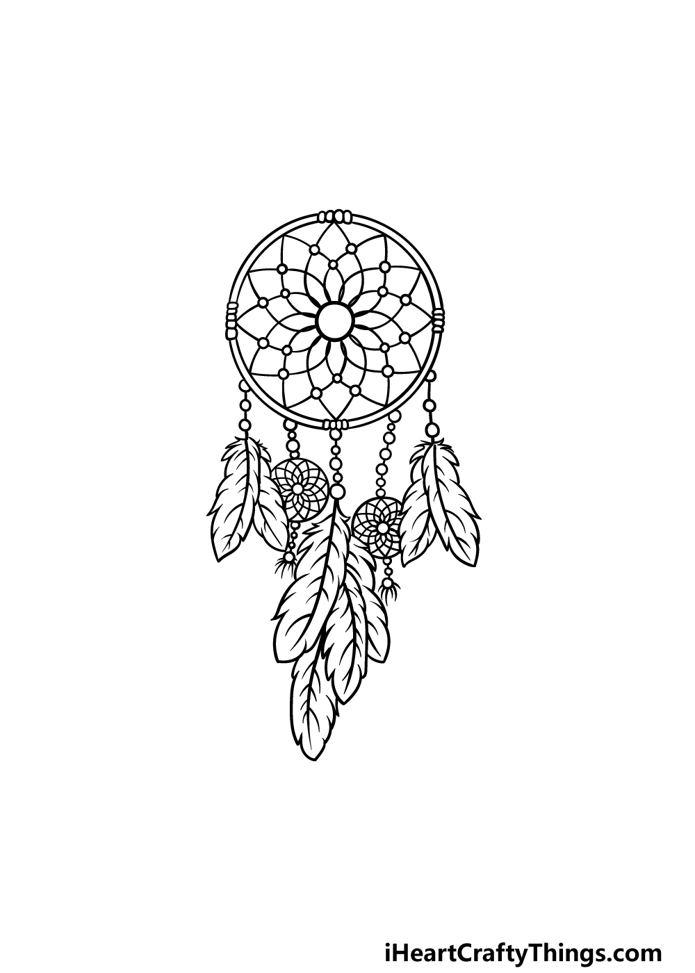 drawing dream catcher step 7