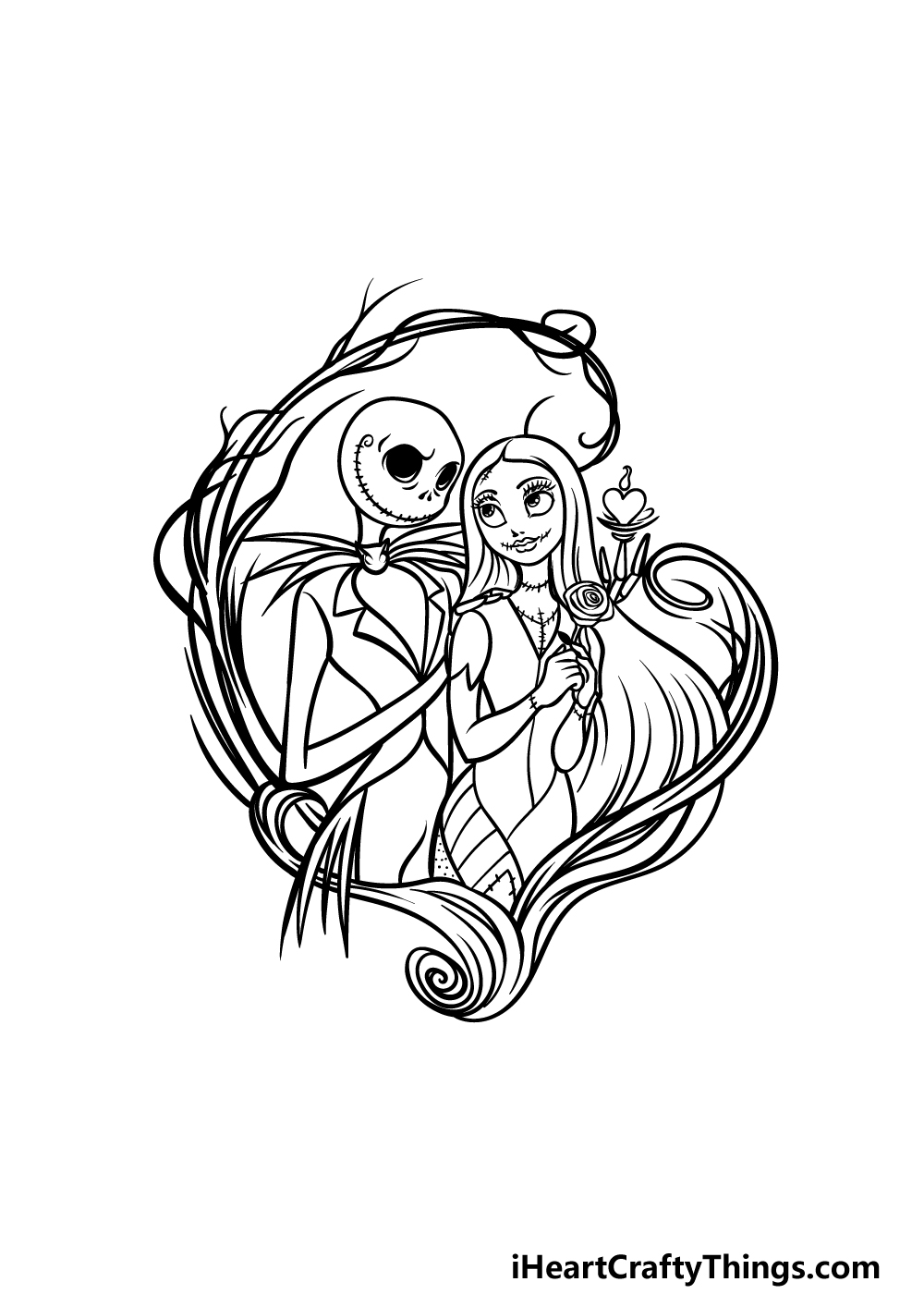 drawing Jack and Sally step 7